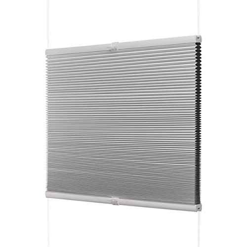 Ventanara Waben Plissee ohne Bohren Weiß verdunkelnd Klemmfix Plisseerollo Faltrollo verspannt inklusive Premium Klemmträger 55 x 130 cm