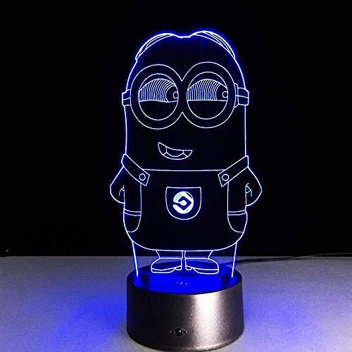 3D Nachtlicht Minion Non-Branded 7 Farben Sensor Raumdekoration Schlafzimmer Lichter LED Nachtlichter für Kinder Kinder Baby