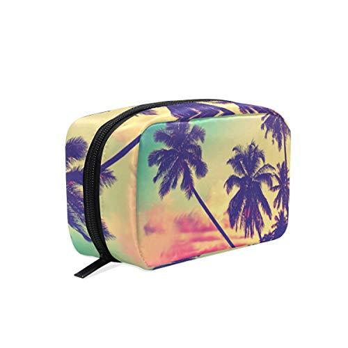 Summer Beach Kalifornischer Kokosnussbaum Kosmetiktasche Kulturtasche Reise-Make-up-Tasche Multifunktions-Organizer für Frauen