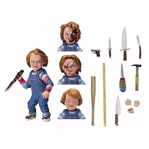 YUY Figura de Muñeca Fantasma de Terror de Lujo de Chaji,Figura de Acción de Chucky, Multicolor, 7 Pulgadas