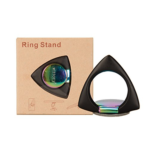 Triangular cell phone ring bracket 360°free rotation, suitable for cell phones like iphone, Samsung, Huawei, Sony, and BlackBerry.