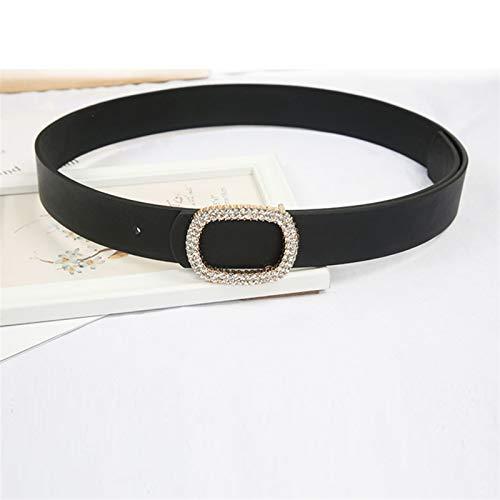 Multa Cinturón de las señoras Cinturón de lujo de la marca de lujo Damas de la perla de la perla de las señoras Cinturón de vestir Para decoración ( Belt Length : 105 x 2.6 cm , Color : Strass belt )