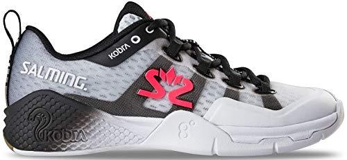 Salming Kobra 2 Indoor Handballschuhe Hallenschuhe weiß/schwarz 1239081-0701 Aktuelle Kollektion 2019, Schuhgröße:41 1/3 EU