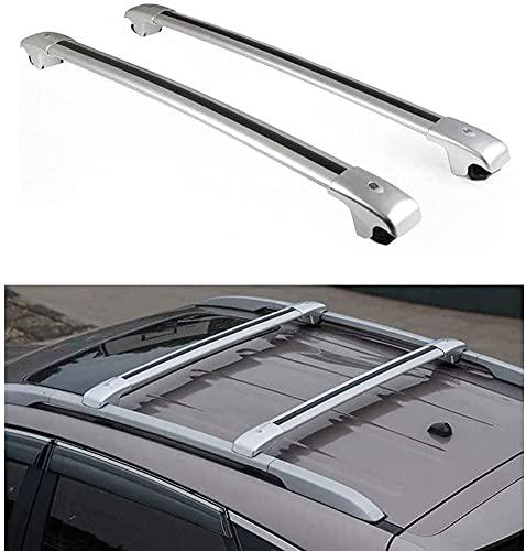 Barras De Techo Para Coche para VW Touareg 2010-2018, Aluminio Baca Portaequipajes Para Coche, Barra De Techo Porta Equipaje, Para Viajar Y Equipaje Transporte
