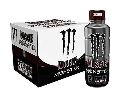 Muscle Monster Chocolate Energy Shake Protein  Energy Drink 15 ounce Pack of 12