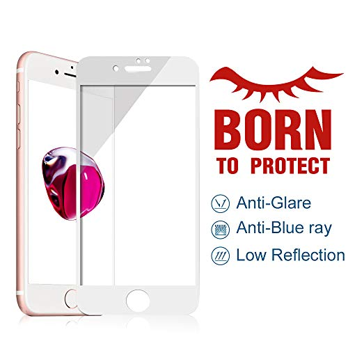 PERFECTSIGHT Blue Light Filter Screen Protector for iPhone 7 Plus 8 Plus, 55% Anti Glare Tempered Glass