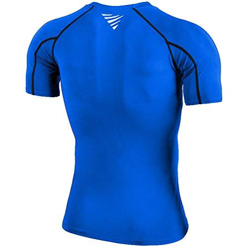 OXENSPORT Funktionsshirt Herren, Kompressionsshirt Fitness Kurzarm, Laufshirt Männer, Sportshirts Atmungsaktiv - 3