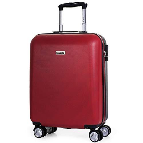 ITACA - Maleta de Viaje Cabina 55x40x20 cm 4 Ruedas Trolley ABS. Equipaje de Mano. Rígida, Resistente y Ligera. Mango, 2 Asas. Vuelos Low Cost Ryanair, Candado Integrado T58050, Color Rojo
