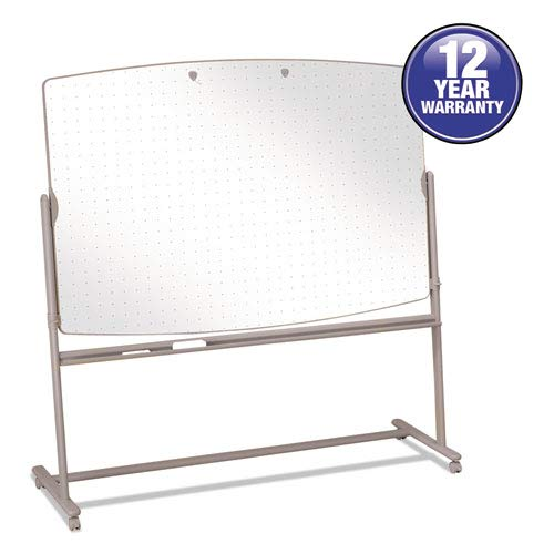 Reversible Mobile Presentation Easel, Dry-Erase, 72 x 48, White/Neutral