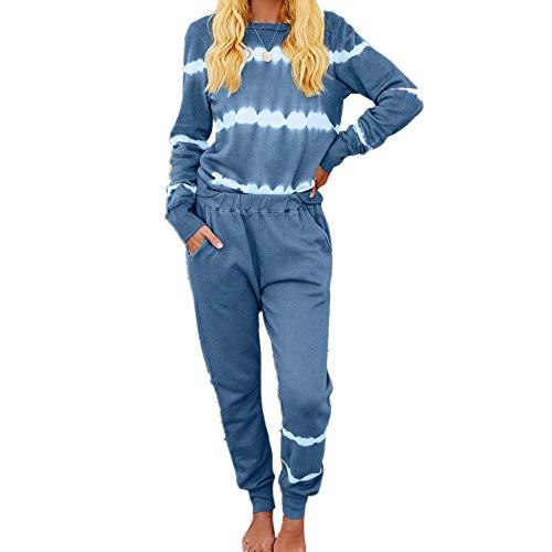 Damen-Pyjama-Set, Batikfärbung, Hauskleidung, Hauskleidung, Loungewear-Set,...