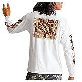 Esque Camiseta Estampada para Hombre- Sudadera De Manga Larga Y Cuello Redondo- OtoñO E Invierno-OtoñO Slim Impreso Blusa-Casual-Hombres-Blusa-Estampado-Sudaderas-Tops- Blusas-T-Shirt-Blanco-L