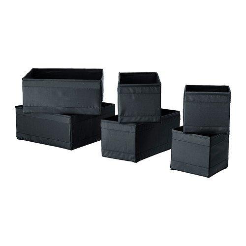 black Box SKUBB Hängeaufbewahrung, 6 Stück, Größen: 14 X 14 X 13 cm, 28 X 14 X 13 cm Und 28 X 28 X 13 cm, 2 Stück.