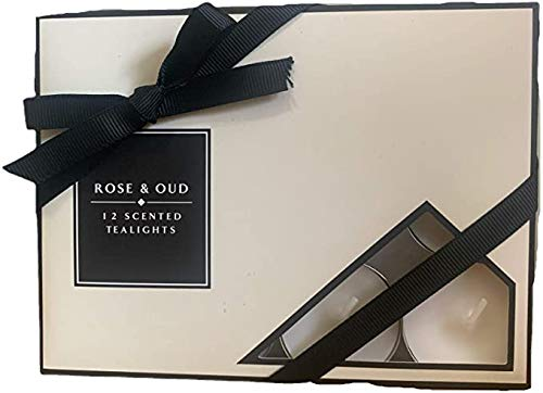 1st CHOICE - ROSE & OUD 12 SCENTED TEALIGHTS GIFT PACK CANDLES