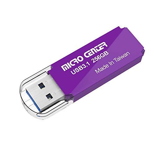 Micro Center Pro 256GB USB 3.1 Gen1 Flash Drive Faster USB Stick External Data Storage Thumb Drive (256GB, Purple)
