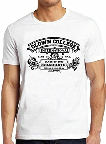 Clown College Funny Graduate Cool Vintage Circus Pennywise tee T Shirt