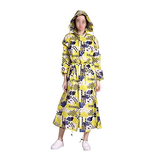 GPWDSN Nuevo Chubasquero Ligero y Transpirable para Mujer, a la Moda, Impermeable, Alargado, para Adultos, al Aire Libre, a Prueba de Viento, para Hombre, Chaqueta Impermeable (Amari