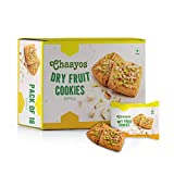 Chaayos Chai Time Snacks - Premium Dry Fruit Cookies - 450g (18 Packs)   Filled with Cashew Almond Pistachio   Gift Hamper   Gift Pack   Cookies and Snacks   Cookies Gift Pack   Family Pack
