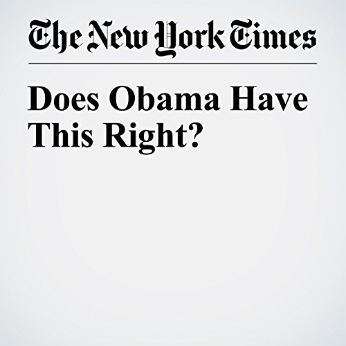 Does Obama Have This Right? cover art