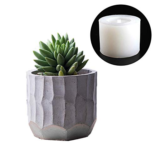 NICOLE Flower Pot Silicone Mold Concrete Succulent Plants Decorating Mould DIY Aromatherapy Candle Decoration