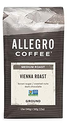 Allegro Coffee Vienna Roast Ground Coffee, 12 oz