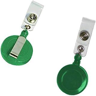 مشبك بخيط لتعليق البطاقة لون اخضر، علبة عبوة 100 حبة من بايندرماكس رقم YO-01