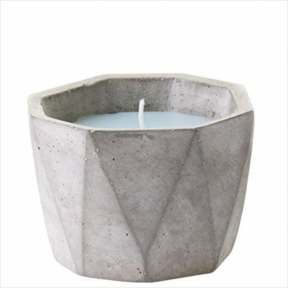 一回スリル花カメヤマキャンドル(kameyama candle) POiNT A LA LiGNE セメントポットセンティッドキャンドル 「 モックオレンジミント 」