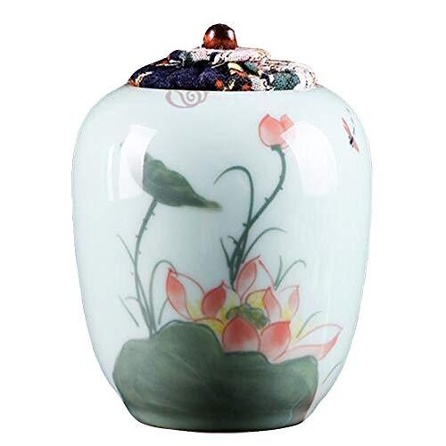 ZYF Urne Für Menschen Kleine Asche Souvenir Glas, Geeignet for Eine Kleine Menge Einäscherung Überreste-Gräber Im Hause Platziert Oder Im Büro, Handgemalter Einäscherung Gläser (Color : A)