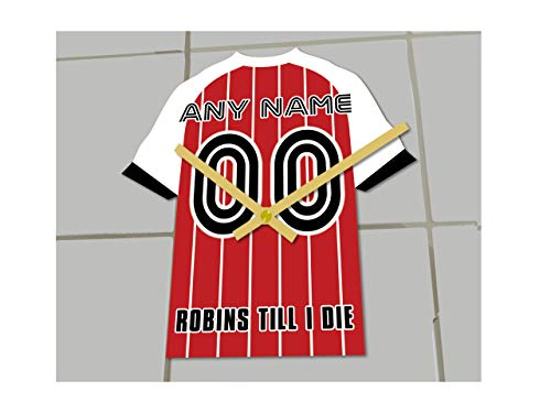 MyShirt123 CHELTENHAM TOWN FC CALCIO CLUB – Orologio da calcio – Qualsiasi nome e qualsiasi numero – si sceglie.