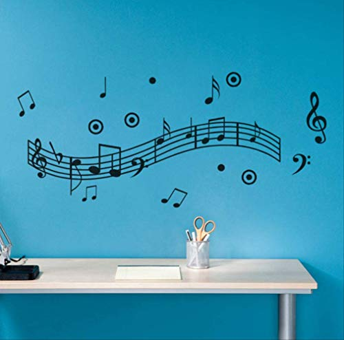Pegatinas De Pared Vinilo Decorativo Pegatina Wall Stickerpegatinas De Pared M�sica Melod�a Calcoman�a De Pared Decoraci�n Para El Hogar Arte Vinilo Stave Poster Para Sala De Estar Music Party Supply