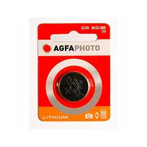 AgfaPhoto 150803432 - Celda de Moneda de Litio, Color Plata