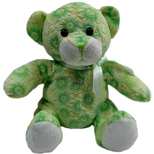 Goffa Green Floral Teddy Bear Stuffed Animal Plush, 10'