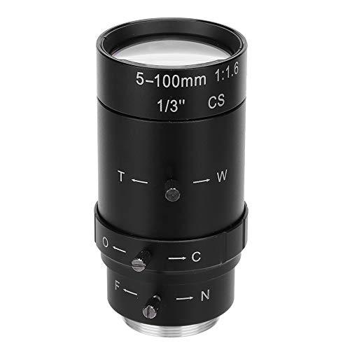 Hopcd 1,3MP Zoom Camer Objektiv 5-100mm CS-Mount Aluminiumlegierung CCTV Kameraobjektiv für Überwachungskamera