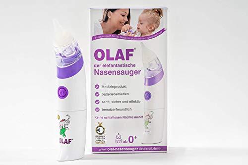 OLAF der elefantastische Nasensauger I Die ausgezeichnete DEUTSCHE MARKE als MEDIZINPRODUKT I Elektrischer Baby Nasensauger sanft und zuverlässig für Babys und Kleinkinder I Ideal für Ihre Erstausstattung