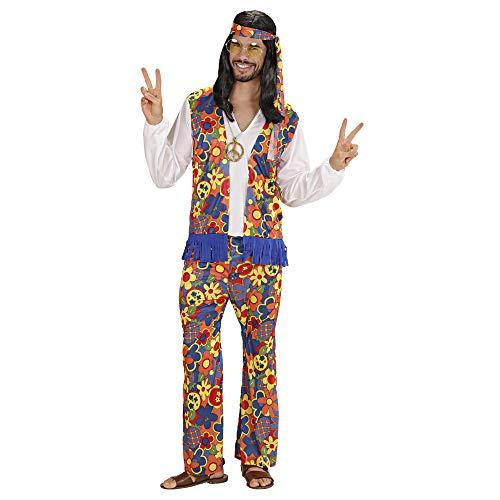 WIDMANN Widman - Disfraz de hippie aos 60s para hombre, talla L (W3525-L)