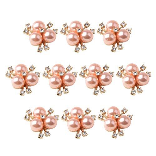 joyMerit 10 Piezas de Diamantes de Imitación de Oro Rosa Botón de Perlas Hallazgos de Cristal Encantos Pendientes DIY