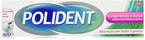 Polident - Adesivo Per Protesi Dentali, Senza Zinco, 40 g