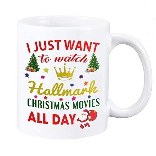 Christmas Coffee Mug, This Is My Hallmark Christmas Movie Watching Mug Tea Cup Ceramic Coffee Mug 11oz