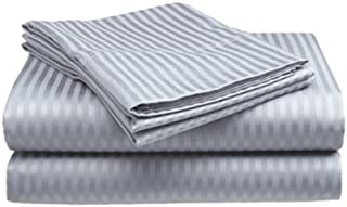 Millenium Linen  Full Size Bed Sheet Set - Silver - 1600 Series 4 Piece - Deep Pocket  -  Cool and Wrinkle Fre e - 1 Fitted, 1 Flat, 2 Pillow Cases