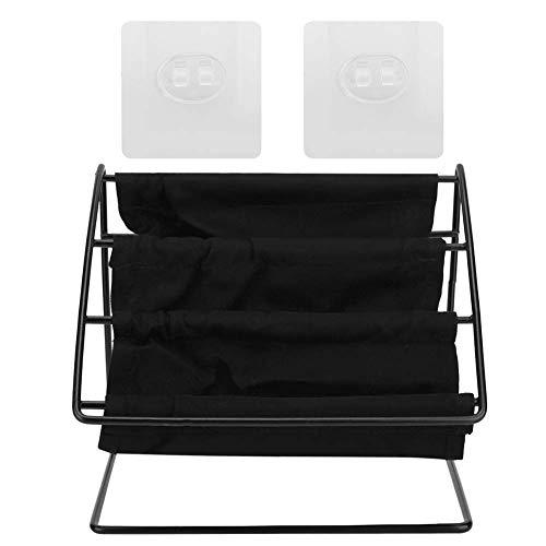 Soporte para gafas, soporte multifuncional para almacenamiento de gafas, soporte para escritorio, organizador de estantes de almacenamiento (negro)