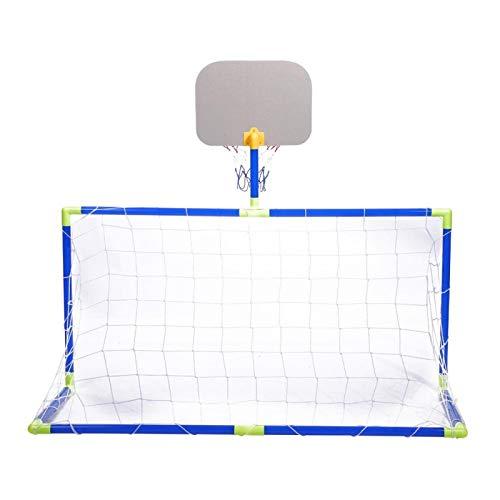 Kuuleyn Kit de Baloncesto para niños, Sistema de fútbol para niños, Sistema de fútbol para Interior y Exterior, Mini Baloncesto, Tablero, Juego de Pelotas de protección, Juego de Juguetes para niños