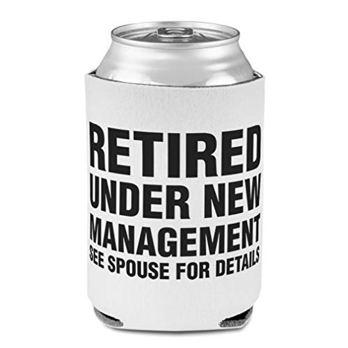 Koozies for Cans Drink Cooler Retired Under See Spouse Details Scuba Foam Party Beer Cover