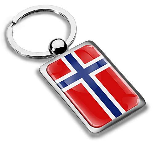 Skino 3D Metaal Noorwegen Vlag Sleutelhanger Sleutelhanger Accessoires Mannen Vrouwen Sleutelhanger Gift KK 234