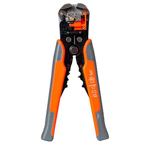 Ecystostc Cortador de cable de crimpador automático pelacables multifuncionales, herramienta de pelado de 0,2 a 6,0 mm2 (color: D2 naranja rojo)
