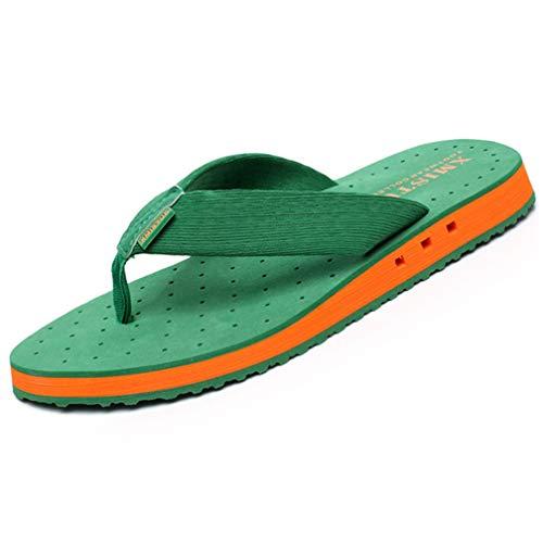 Hsyooes Chanclas para Hombre Punta Descubierta Zapatillas Playa Verano Casa Zapatos