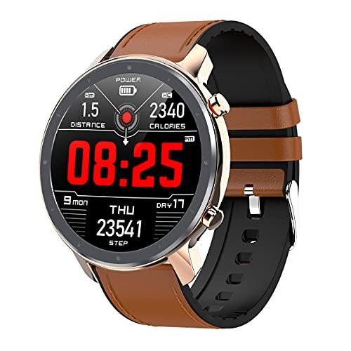 1,3 pulgadas Smart Watch, Pantalla IPS con círculo completo Toque Full Touch Personalizado Dial Reproductor Muñeco SmartWatch Fitness Tracking IP67 Reloj a prueba de agua para hombres Mujeres