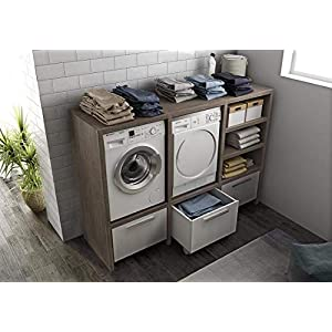 Ve.ca. Mueble de lavandería con puertas a rayas de 175 cm de ...