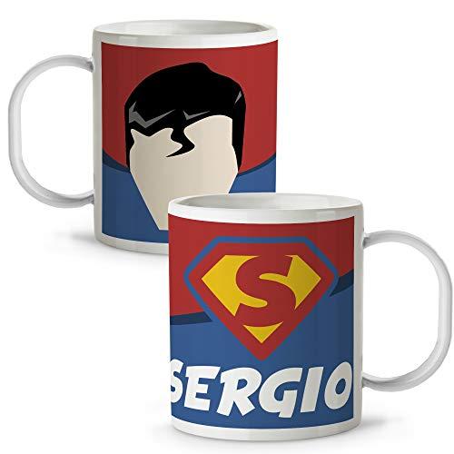 Taza Superhéroes Personalizada con Nombre | Plástico | Vuelta al Cole | Varios Diseños y Colores Interior | Superman