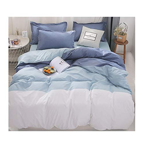 GSZPXF Simple Duvet Cover Bedding (Color : 5, Size : Double 4ps 180x220)