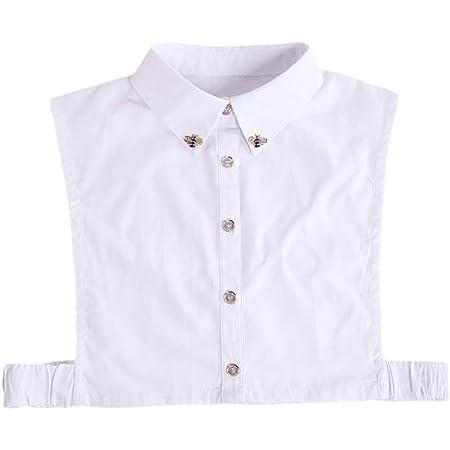 Falso Cuello, Falda Media Blanca para Mujeres con un diseño Elegante y liviano