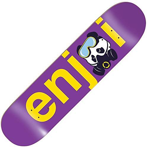 Enjoi Skateboards No Brainer Gasmask Purple 8.125inch Skateboard Deck